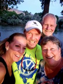 Jan, Gary, Tonya and Roger in Palisade