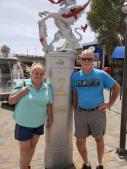 """Mom and Roger in """"London"""" at Lake Havasu"""