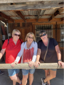 Us girls at Oatman - on Route 66