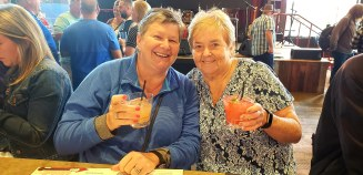Me and Mom at Ole Red (Blake's place)